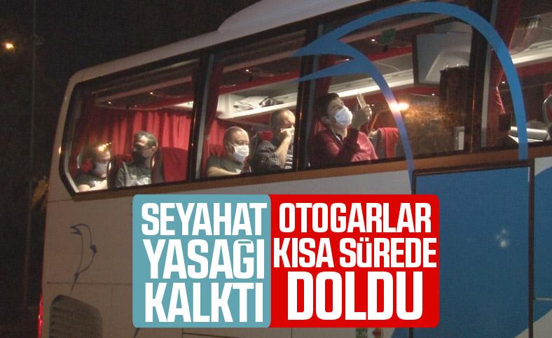 Şehirler arası otobüs seferleri için otogarlarda yoğunluk