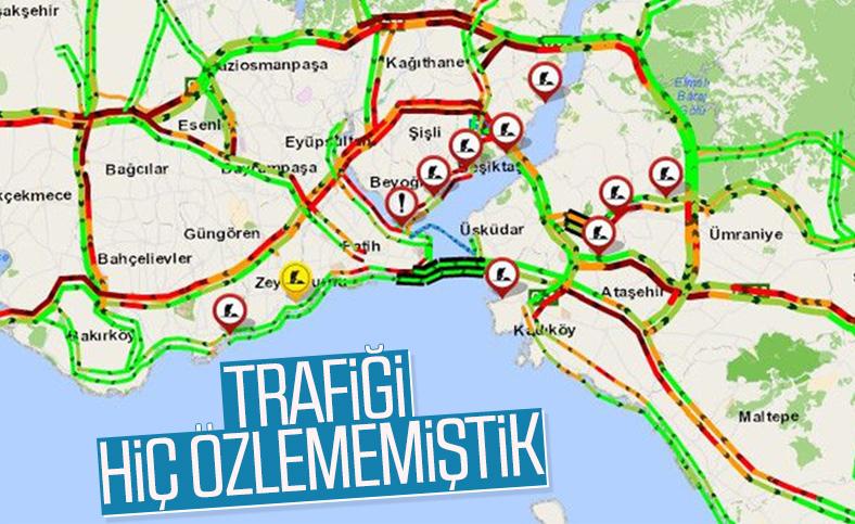 Korona sonrası İstanbul trafiği böyle görüntülendi