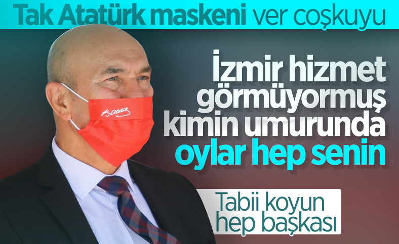 Son dakika haberleri: Tunç Soyer'in Atatürk imzalı maskesi