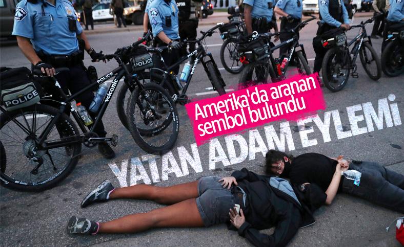 ABD'de protestocular yatarak eylem yaptı
