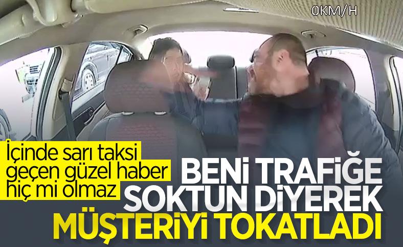İstanbul'da taksici Faslı kadını darbetti