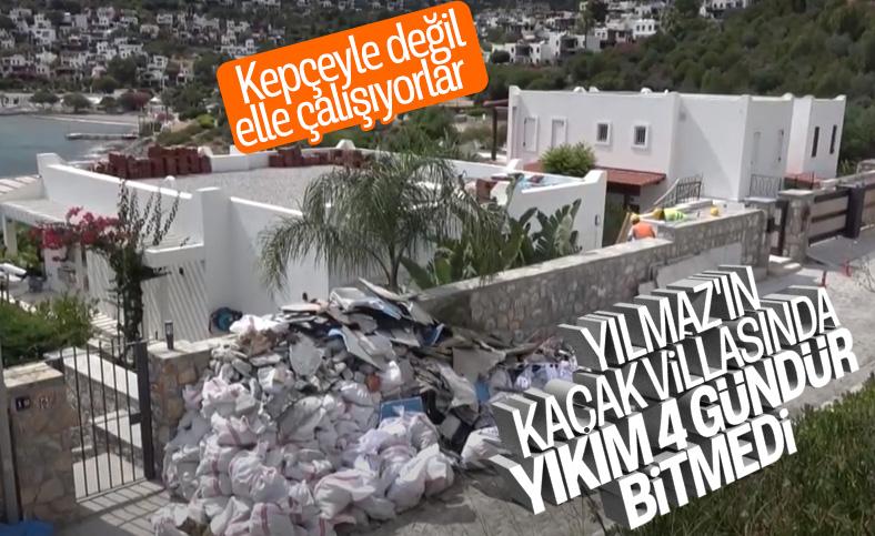 Yılmaz Özdil'in villasındaki yıkım sürüyor