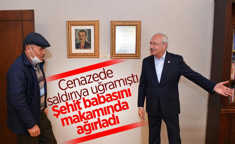 Kılıçdaroğlu, Çubuklu şehidin babasıyla görüştü
