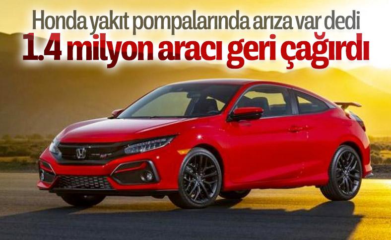 Honda, dünya genelinde 1.4 milyon aracı geri çağırdı