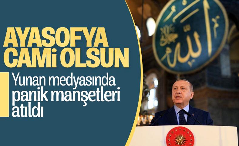 Yunan basınının gündeminde Erdoğan'ın Ayasofya kararı var