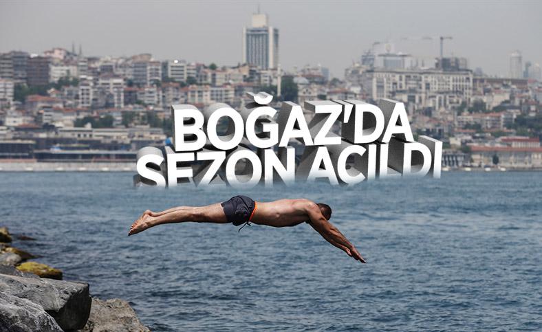 İstanbullu Boğaz'da serinledi