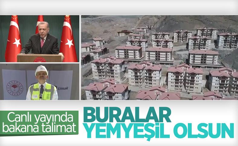 Cumhurbaşkanı Erdoğan, Yusufeli için yeşillendirme istedi