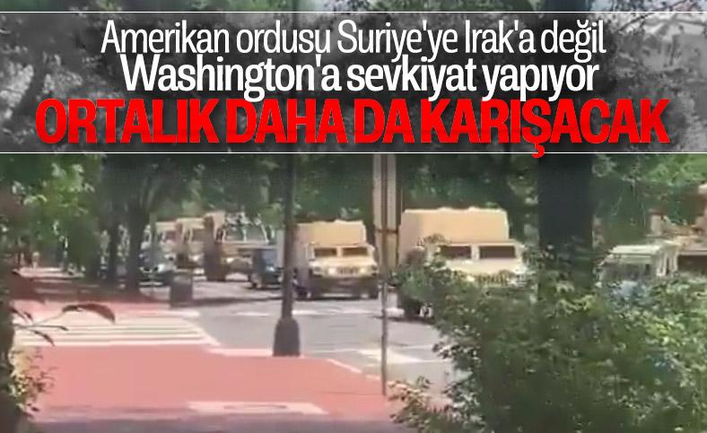 Çok sayıda zırhlı araç ve Ulusal Muhafız Washington'da