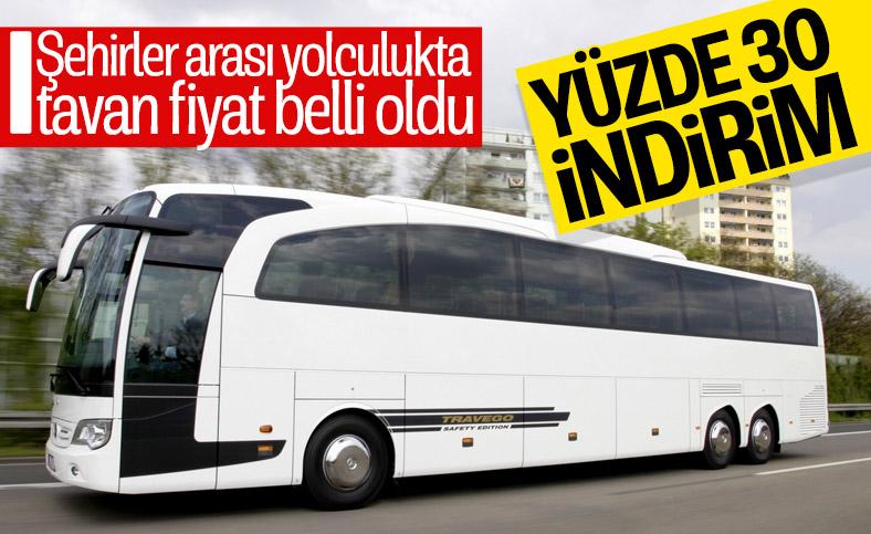 Şehirler arası otobüs seferlerinde tavan fiyat açıklandı