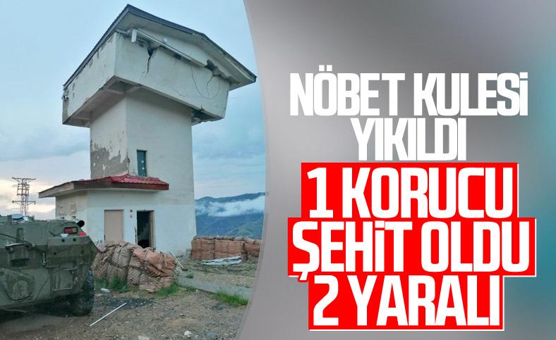 Karlıova'da askeri nöbet kulesi yıkıldı: 1 şehit