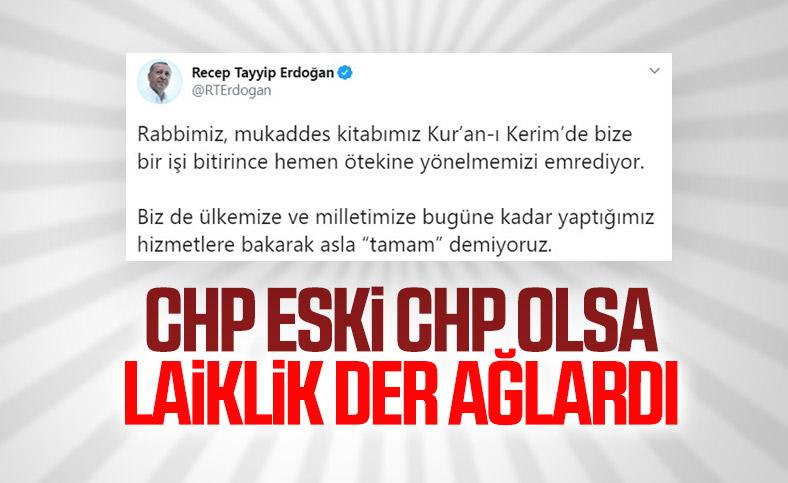 Cumhurbaşkanı Erdoğan: Hizmette asla 'tamam' demiyoruz