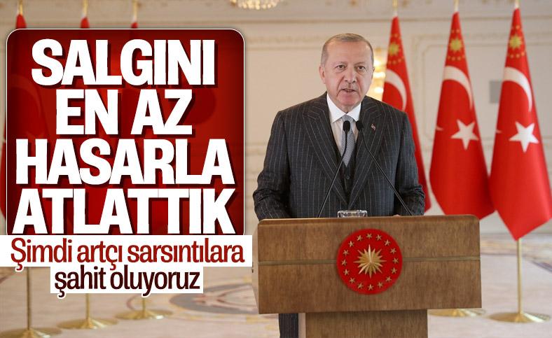 Cumhurbaşkanı Erdoğan: Salgını en az hasarla atlattık