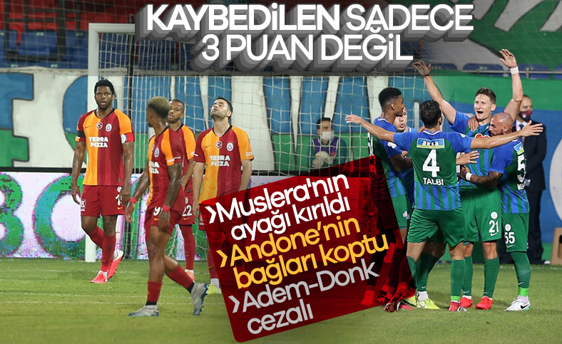 Galatasaray, Rize'den eli boş döndü