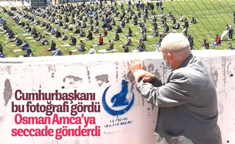 Namaz için stada giremeyen Osman Amca'ya seccade hediyesi