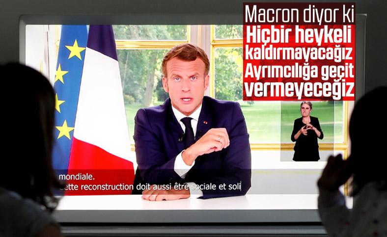Macron: Hiçbir heykeli kaldırmayacağız