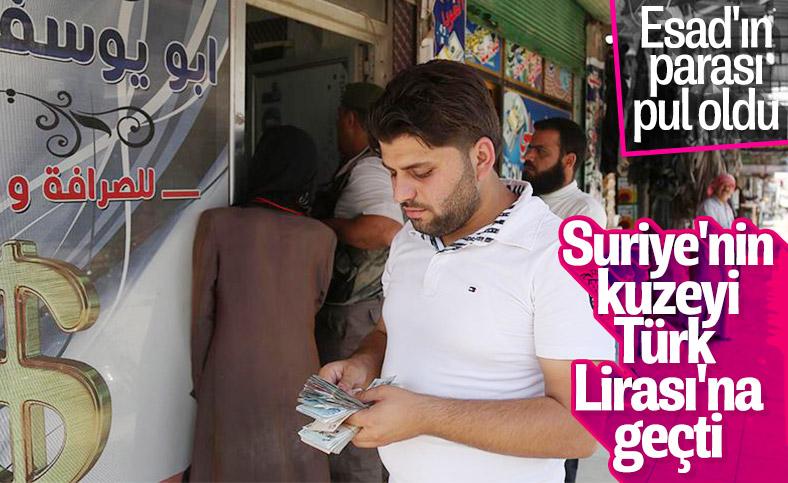 Suriye'nin bazı bölgelerinde TL'ye geçiş yapıldı