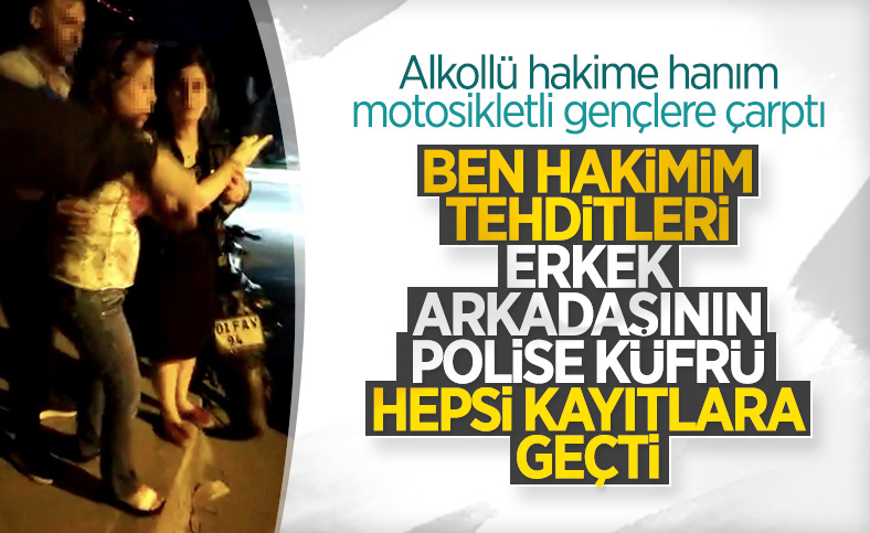 İstanbul'da kazaya karışan kadın hakim, gençlere saldırdı