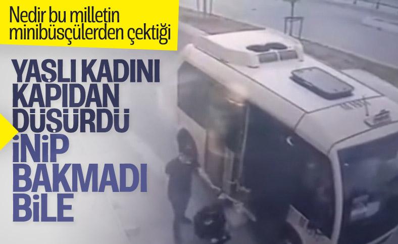 Gaziosmanpaşa'da bir kadın minibüsten düştü