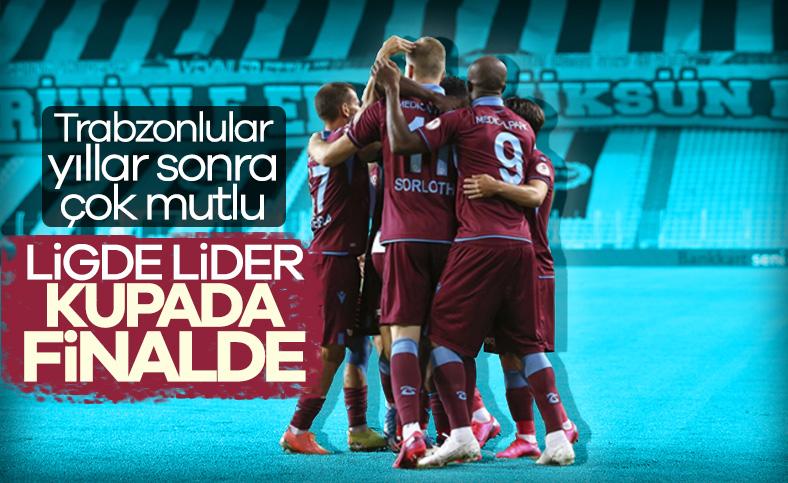 Trabzonspor, Türkiye Kupası'nda ilk finalist oldu
