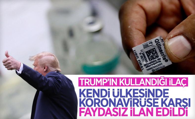 Trump'ın kullandığı ilaçtan ABD'de vazgeçildi