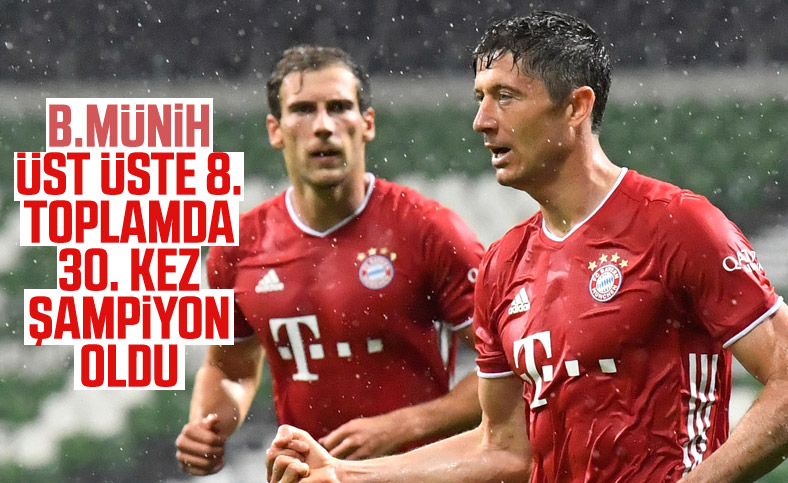 Bayern Münih, üst üste 8'inci kez şampiyon
