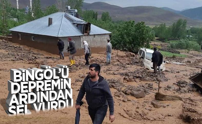 Bingöl'de depremin ardından sel felaketi