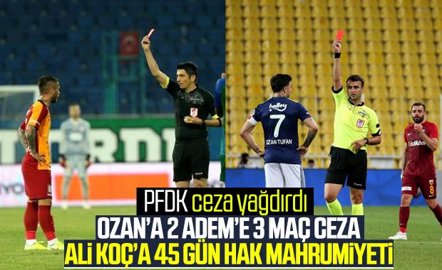PFDK'dan Adem Büyük'e 3 Ozan Tufan'a 2 maç ceza