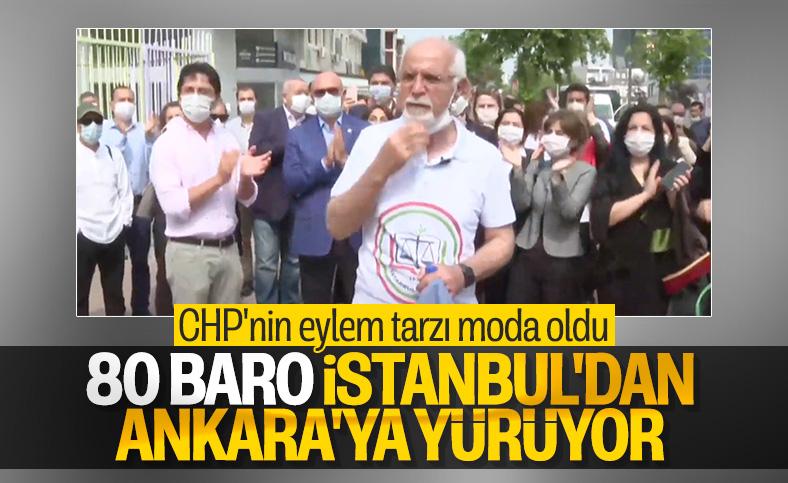 80 baro, İstanbul'dan Ankara'ya yürüyüş başlattı