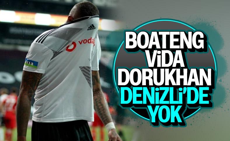 Beşiktaş'ta, Boateng sakatlık nedeniyle kadroda yok