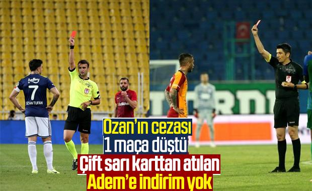 Fenerbahçeli Ozan Tufan'ın cezası 1 maça düştü