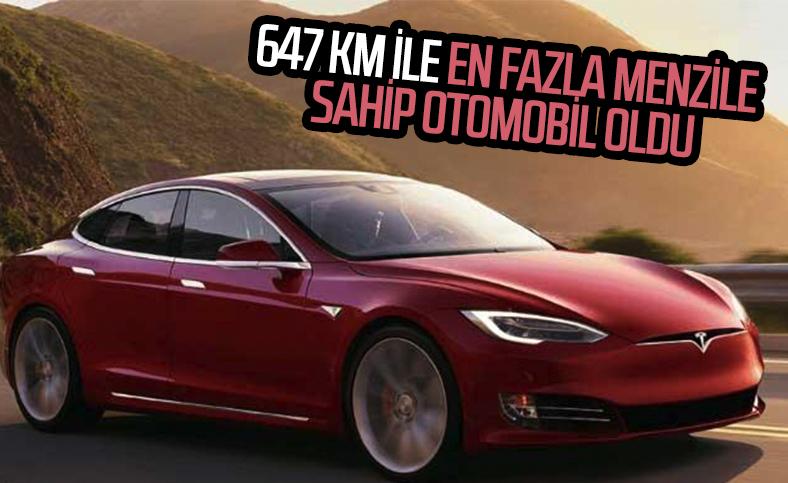 Tesla Model S, 647 km ile menzil rekoru kırdı