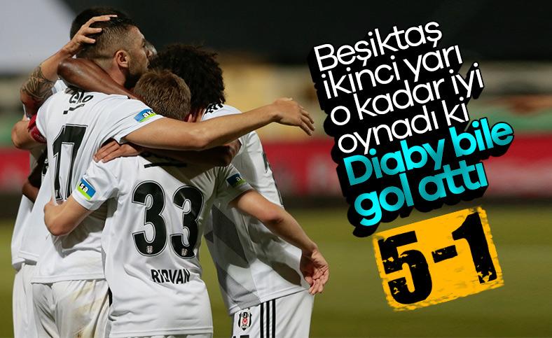 Beşiktaş, Denizlispor'a 5 attı