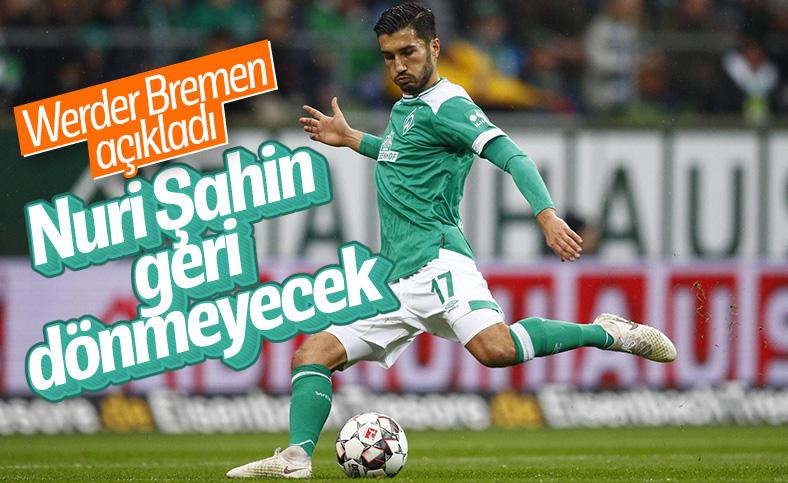 Nuri Şahin, Werder Bremen'den ayrılıyor