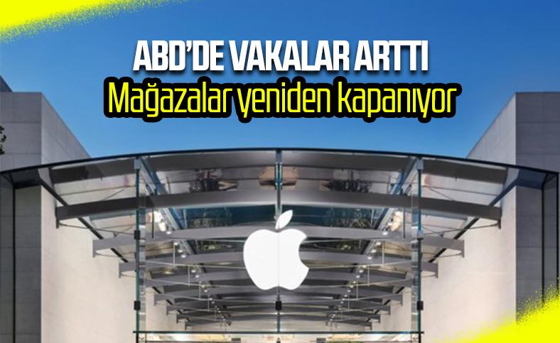 Apple, ABD'deki mağazalarını yeniden kapatacak