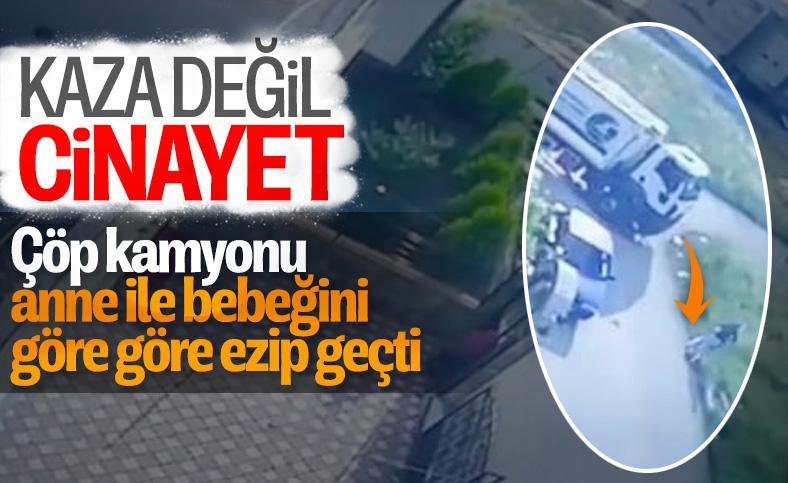 Bursa'da, çöp kamyonu anne ve kızını ezdi