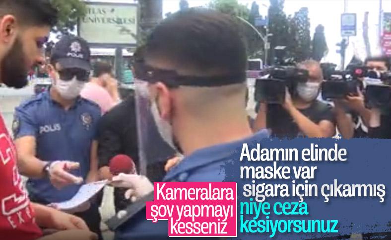Beşiktaş'ta maske denetimi yapıldı