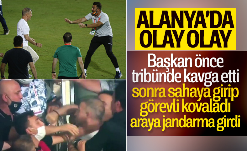 Ahmet Ağaoğlu, Alanyaspor çalışanlarının üzerine yürüdü