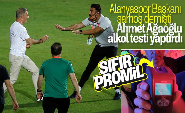 Ahmet Ağaoğlu alkol testi yaptırdı