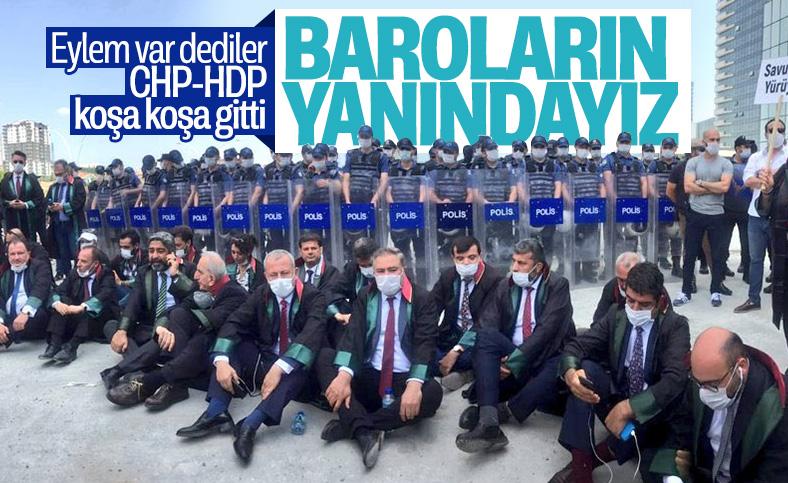 CHP ve HDP'den barolara destek