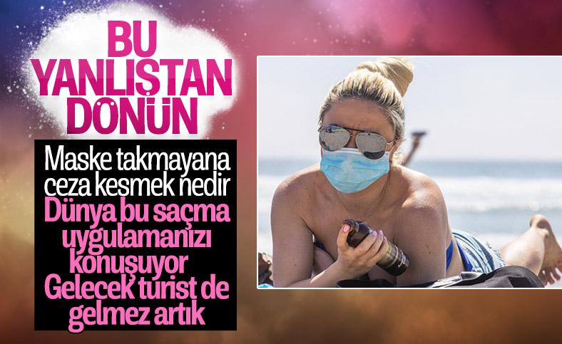 Türkiye'deki maske cezası İngiliz medyasında