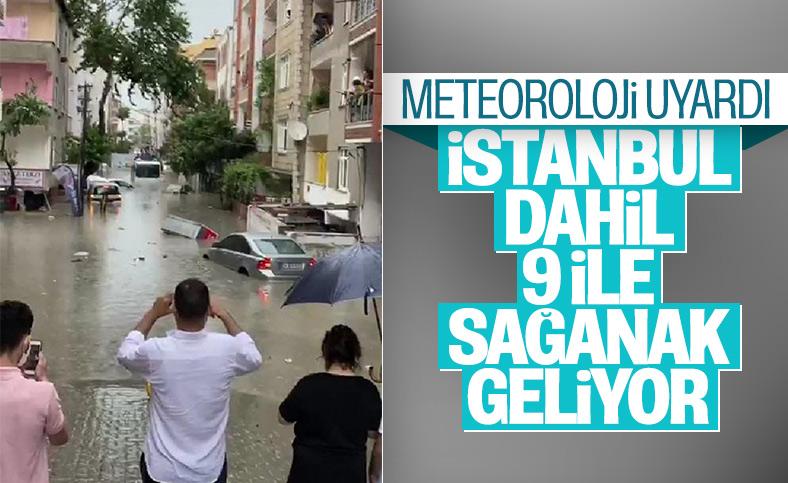 Meteoroloji'den 9 il için sel uyarısı