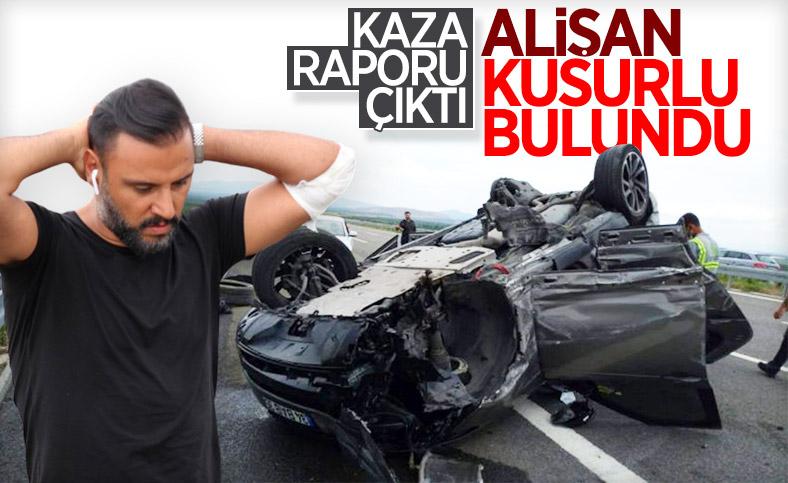 Alişan'ın yaptığı kazanın jandarma raporu