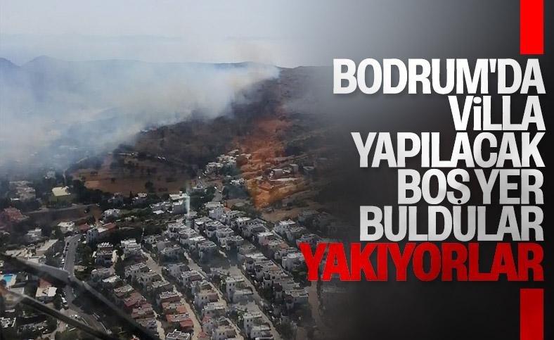 Bodrum'da makilik alandaki yangın söndürüldü