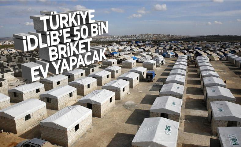 Türkiye İdlib'de 50 bin konut inşa edecek