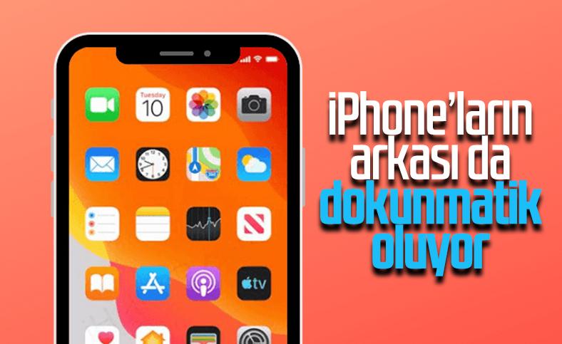 iPhone'ların arkasına dokunarak komut verilebilecek
