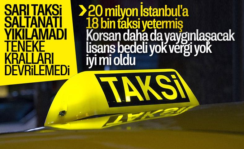 İBB'nin 5 bin taksi kiralama teklifi reddedildi