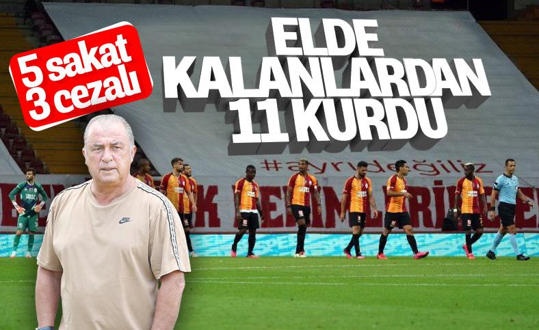 Fatih Terim'in Başakşehir maçı 11'i