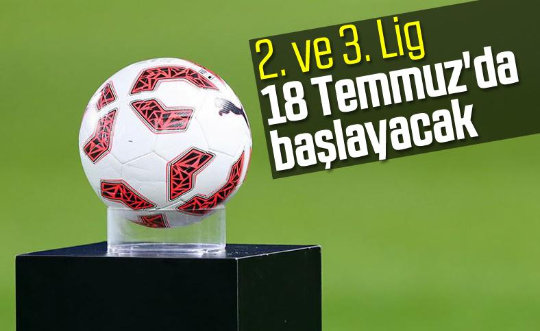 TFF 2.Lig ve TFF 3.Lig 18 Temmuz'da başlıyor