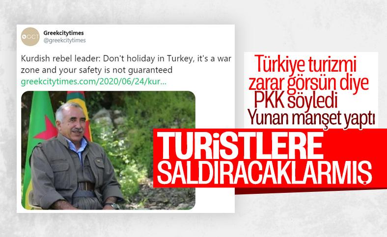 Yunan medyası turizm rekabetinde PKK propagandası yaptı