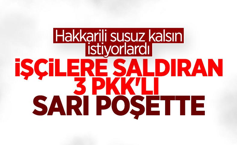 Hakkari'de işçilere saldıran PKK'lılar öldürüldü